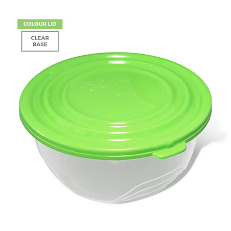 Colour Lid, Clear Base - Green