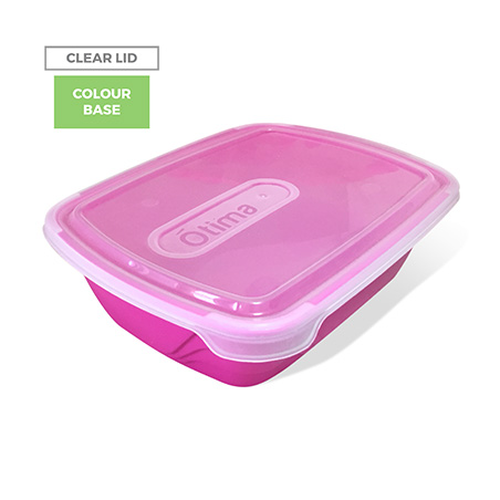 Clear Lid, Colour Base - Pink