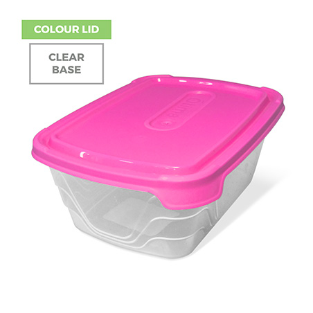 Colour Lid, Clear Base - Pink