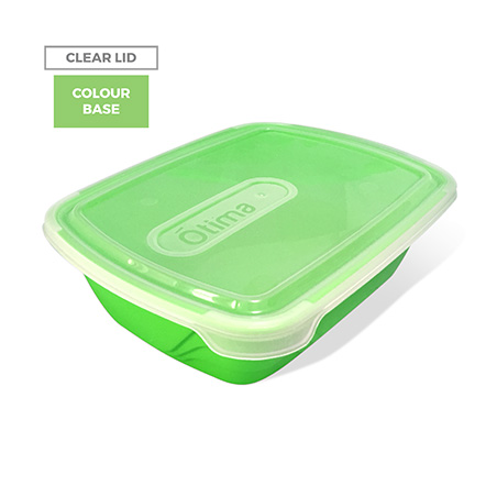 Clear Lid, Colour Base - Green