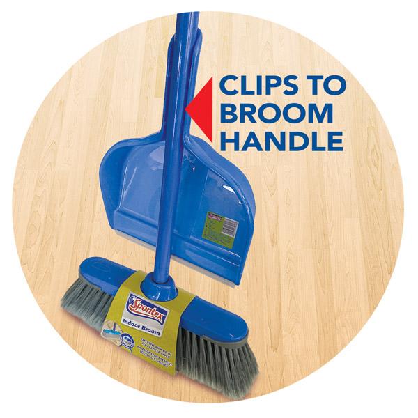 Dustpan Clips On Broom