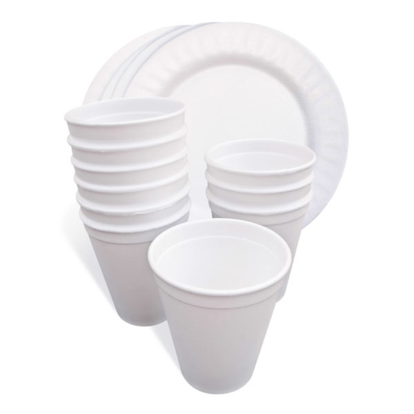 Polystyrene Foam Cup And Plate